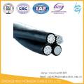 Cabo aéreo de alumínio 25mm 35mm 50mm do cabo aéreo aéreo do pacote dos cabos de ABC