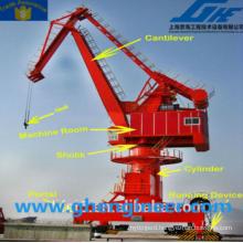 port jetty harbour mobile portal crane