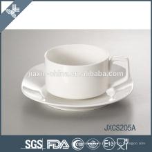 Китай оптовая конкурентоспособная цена керамические белые одноразовые чайные чашки и блюдца
