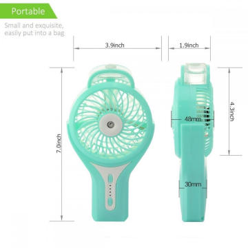 Rechargeable Battery Operated Handheld Mini Misting Fan