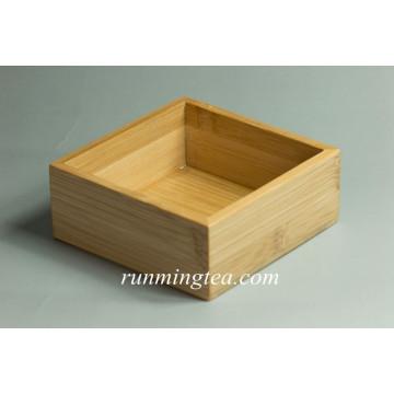Bandeja de servir cuadrada de bambú