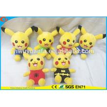 El estilo de moda vendedor caliente Pokemon va los juguetes de la felpa Muñeca rellena linda de la serie de Pikachu para los cabritos