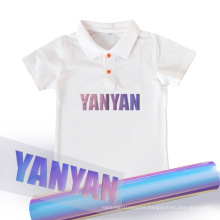 Yanyan gradient change color heat transfer vinyl floral film for clothes