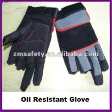 Synthetic Leather Oil Resistant Glove/Carpenter Glove ZMR377