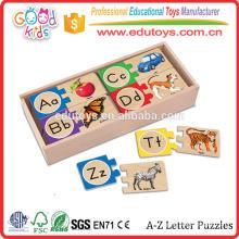 Bons jouets en bois Vente directe Bricolage Matching Toy Educational Wood Puzzle Games