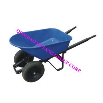 "120L plastic tray 16""*4""  wheels wooden handle wheelbarrow"