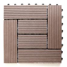 Wholesale Composite Floor Tiles Waterproof DIY Interlocking WPC Deck Tiles