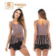 Heißes verkaufendes ärmelloses reizvolles Knit-Oberseite für Frauen