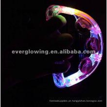 Shine chocalhos Brincar com a luz de plástico + chapa de aço inoxidável