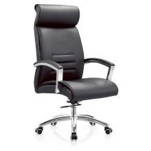 High Back Lounge Schwarzer Bürostuhl aus PU-Leder