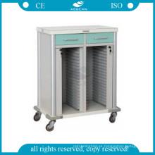 AG-CHT011 Portador de archivos de la habitación del paciente carro de registros médicos del hospital