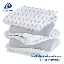barato suave toque algodón 100% mantas de bebé