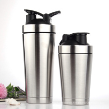 500ml Double Wall Stainless Steel Protein Shaker Vacuum Flasks with Stainless Steel Ball