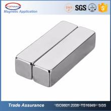 China Professional Square Bar sinterizada Ndfeb Magnet para gerador de motor elétrico