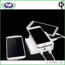 Multi USB Ladegerät Portable Qi Wireless Ladegerät für Samsung S7 und für iPhone