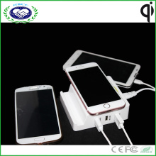 Multi USB Charger Portable Qi Wireless Charger for Samsung S7 and for iPhone