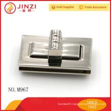 Zinc alloy rectangle shape handbags lock parts