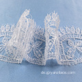 Geometri Lace Trim White Ribbon Trim