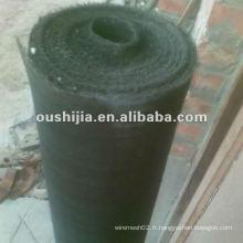 Tissu en soie noir de bonne qualité (fabrication)