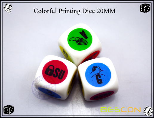 Colorful Printing Dice 20MM-2