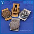 custom 3D antique gold plating money clip metal