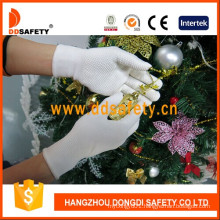 White PVC Dots One Side Nylon Safety Gloves with Ce Dkp413