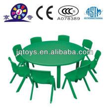 Mesa redonda de plástico barata para niños
