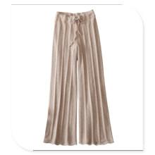 Damen Strick Leggings 100% Cashmere Pants mit Gürtel