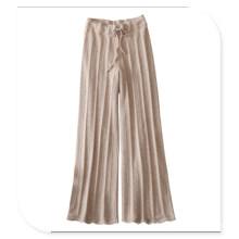 Leggings de tricô para mulheres 100% Calças de cashmere com cinto
