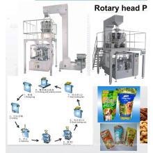 Máquina de empacotamento de bolsas pré-fabricadas rotativas