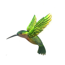 Lively Flying Hummingbird Garden Moulded Metal Wall Decoration
