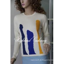 Senhoras ′ Cashmere Intarsia Pullover CIP1101L