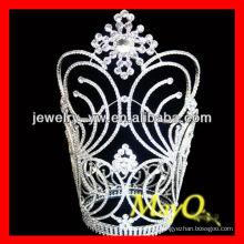 Blumen-Design Große Diamant-Festzug Krone, Ringe Krone geformt, große Hochzeit Krone mit Kristall
