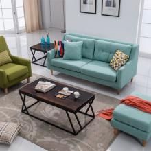 Sofá de tecido japonês e Nordic pequena casa Conjunto sofá desmontável