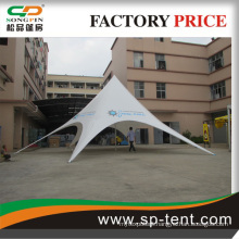 aluminum frame single star tent for car show /trade event