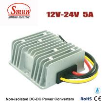 Fuente de alimentación del coche del convertidor de 12V-24VDC 5A 120W DC-DC con prenda impermeable