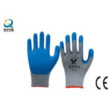 Guantes de trabajo con revestimiento de palma de latex de 10g T / C