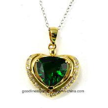 Herz-Form und neue Herz-Art und Weise 925 Sterlingsilber-Diamant-Anhänger P4991g