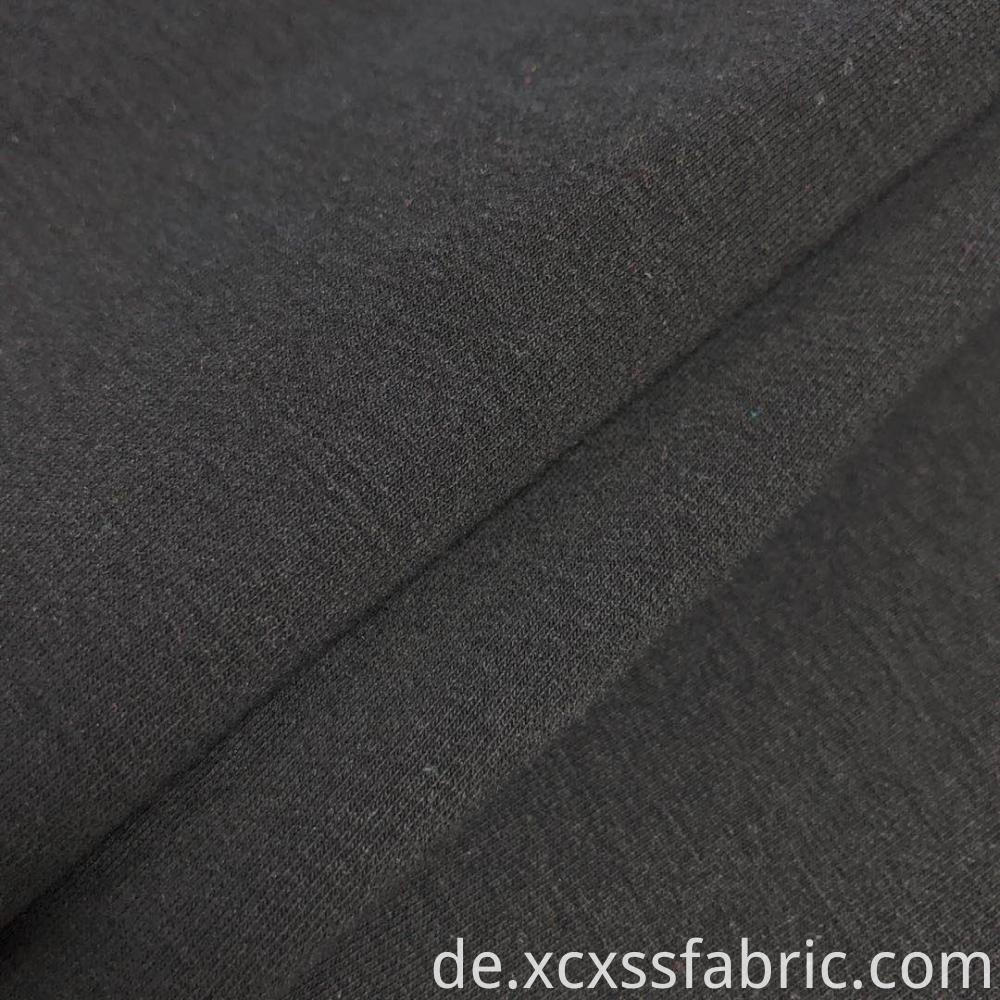 cheap wholesale spandex black french terry knit fabric