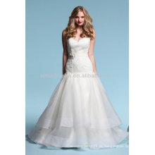 Flawless 2014 Sweetheart Lace Top Bodice Tiered Rock Sexy Niedrige Backless A-Line Organza Brautkleid Kleider NB015