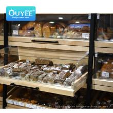 Ouyee Wisda Commercial Display Rack Shopping Gondola Wooden Supermarket Shelf For Sale Supermarket Shelves Metal