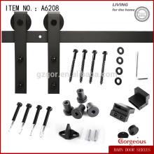 Black Color Carbon Steel Interior Sliding Door Top Stay Roller