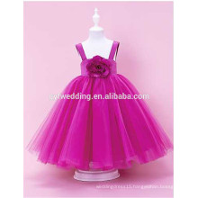Kids Wedding Dress Little Girls Princess Dress 2015 Sleeveless Tea-Length Tulle Newest Product Kids Party Wear Dress for Girs D5