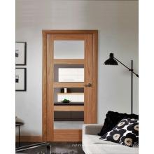 Carvalho Natural Porta Interior Porta Moderna com Vidro