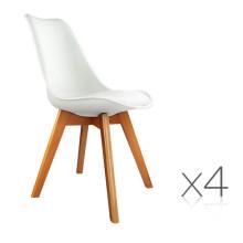 Cadeiras de jantar PU brancas