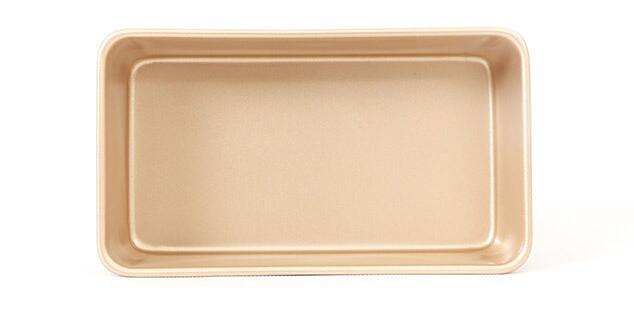 9'Golden Non-stick Rectangular Cake Mold (6)