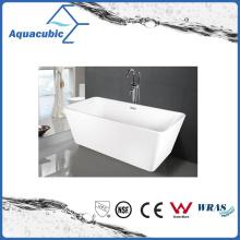 Bathroom Square Acrylic Free-Standing Bathtub (AB1506W)