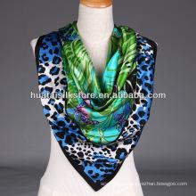 Sexy Lady Scarf Leopard y mariposa Tropical Print bufanda chal