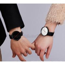 Simple mais élégant Style Montre en acier inoxydable Lovers en noir et blanc