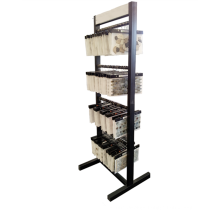 Factory Price Custom Floorstanding Simple Metal Stone Carpet 4-Layer Hanging Mosaic Display Stand